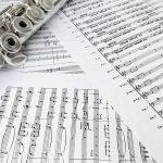 Noten für Querflötenquartett oder Querflöten-Register zum Einspielen und warm spielen